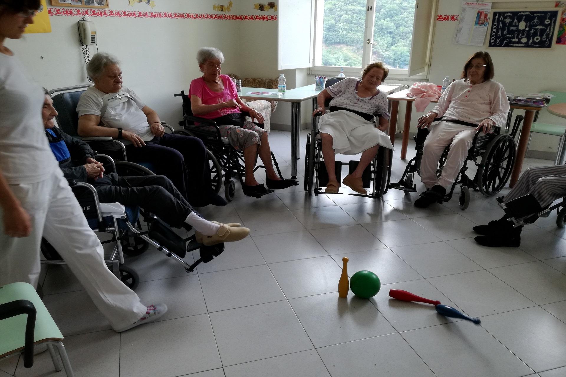 Attività psicomotoria alla Residenza Sanitaria Assistenziale Noceti | Opere Sociali Servi Savona