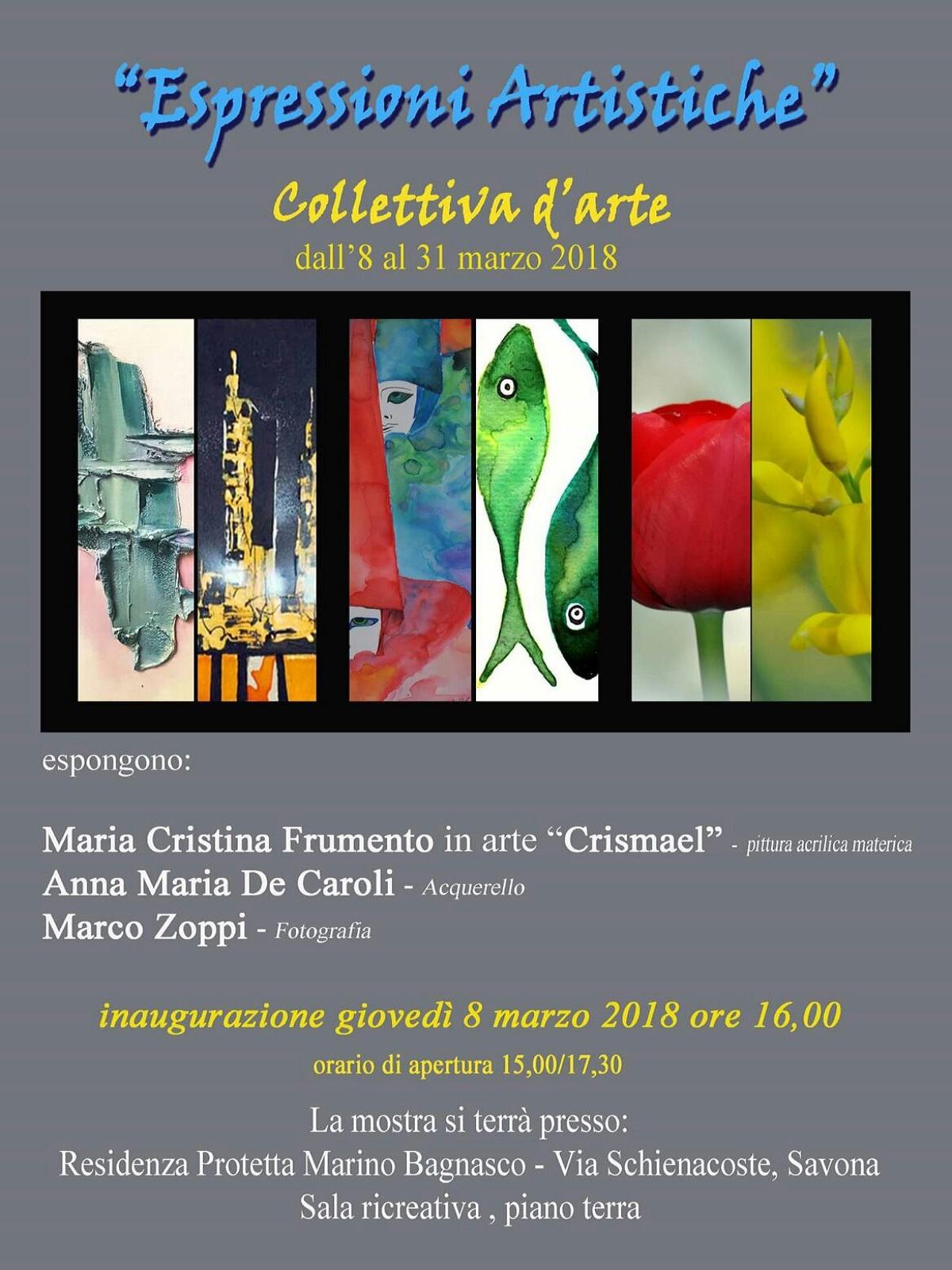 Mostra Espressioni Artistiche Residenza Protetta Marino Bagnasco - Opere Sociali Servizi Savona