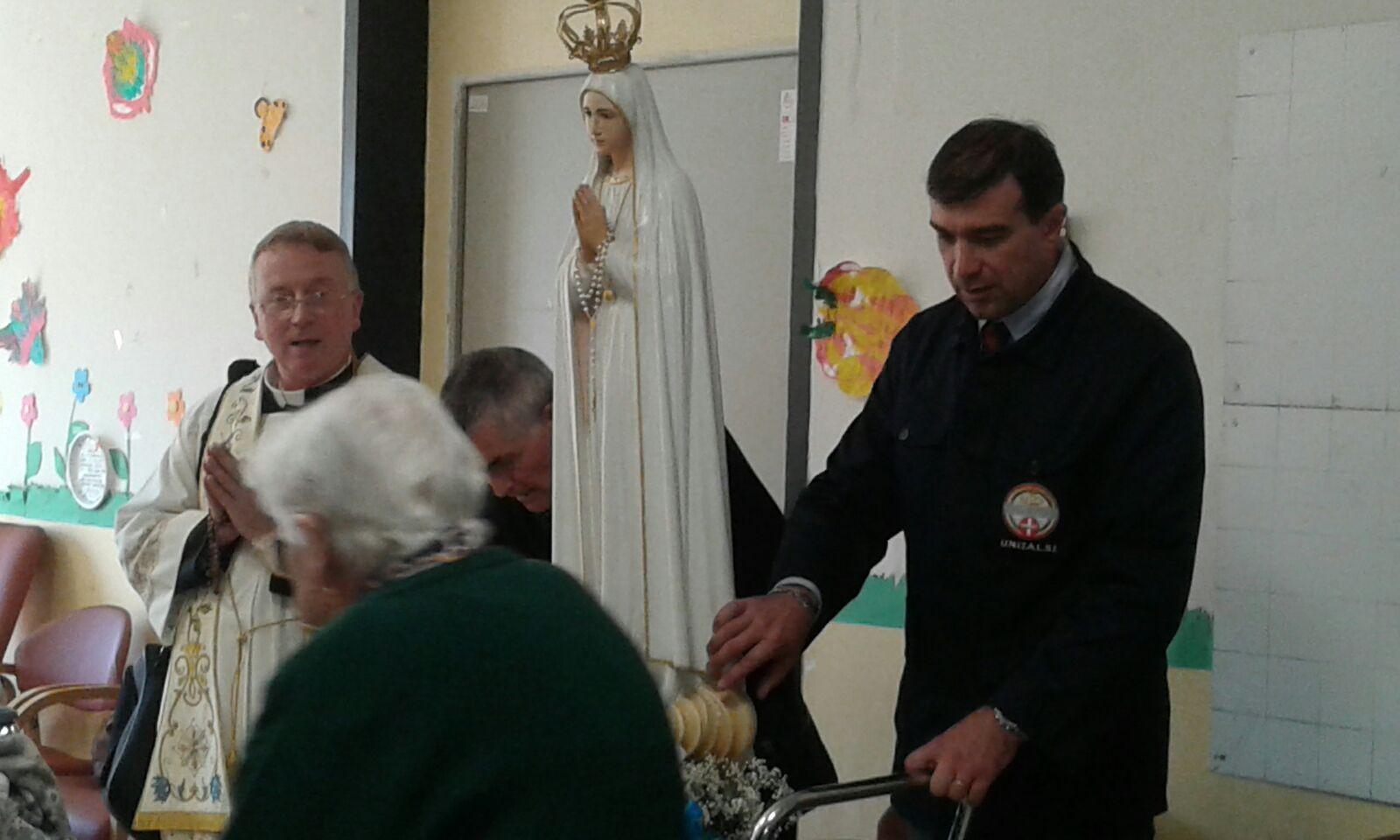La statua della Madonna di Fatima alla RSA del Santuario | Opere Sociali Servizi Savona