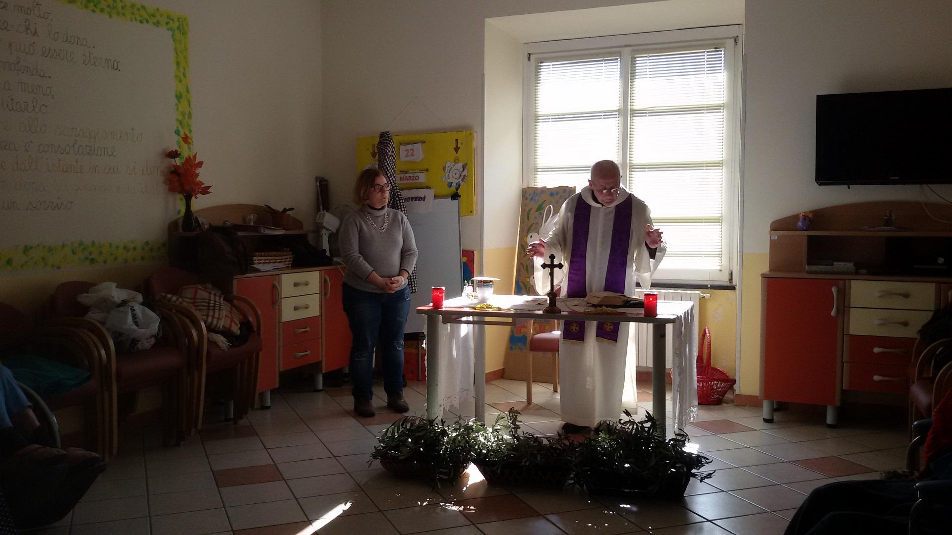 Messa di Pasqua Residenza Sanitaria Assistenziale Santuario - Opere Sociali Servizi Savona