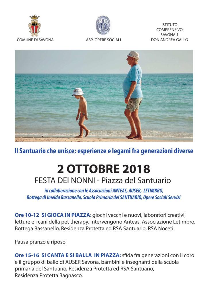 Festa dei Nonni - 2 Ottobre 2018 - Piazza del Santuario - Opere Sociali Servizi Savona