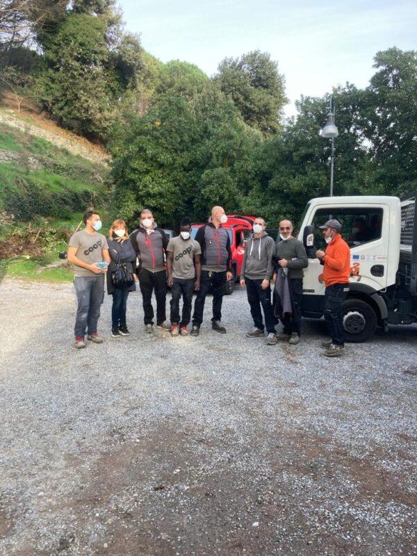 La squadra dei manutentori di Coop Quadro - RSA Noceti Santuario Centro Covid - Opere Sociali Servizi Savona