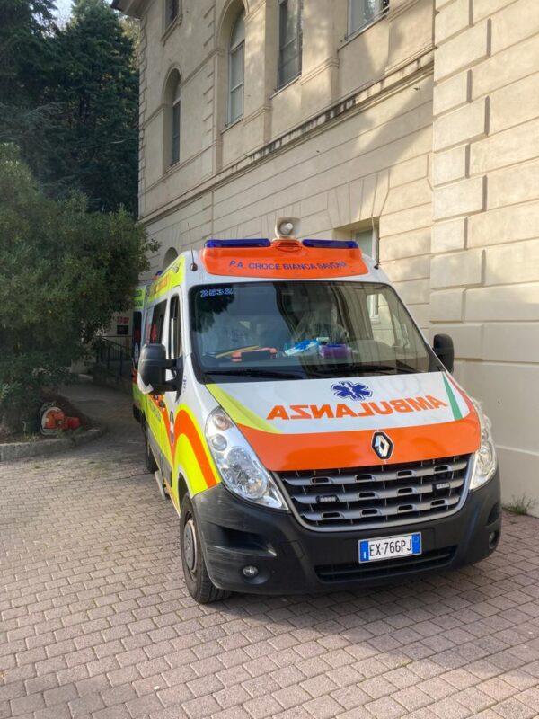 La prima ambulanza - RSA Noceti Santuario Centro Covid - Opere Sociali Servizi Savona